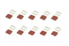 GoFly Motor Kabelhalter / Clip 12 Stück in weiß