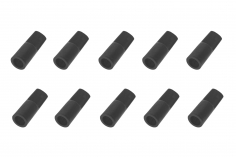 Abdeckkappe für 5,5mm Goldkontaktstecker 10 Stück in schwarz