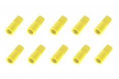 Abdeckkappe für 5,5mm Goldkontaktstecker 10 Stück in neon-gelb