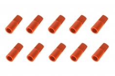 Abdeckkappe für 5,5mm Goldkontaktstecker 10 Stück in rot