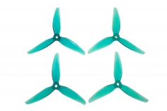 HQ Prop Propeller POPO Quick Swap 5,1X4,6X3V1S aus Poly Carbonate in türkis transaparent je 2CW+2CCW