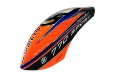 Kabinenhaube orange/schwarz für Goblin 770 Sport