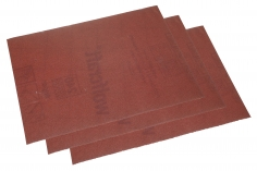 Schleifpapier 3 Bögen ca.11,5x16,5cm mit einer 240er Körnung (fein)