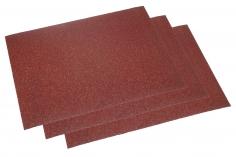 Schleifpapier 3 Bögen ca.11,5x16,5cm mit einer 80er Körnung (grob)