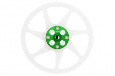 Rakonheli Hauptzahnrad Delrin 140 Zähne 4,6mm hoch mit Alu Nabe in grün für Blade 230 S und 230 S V2