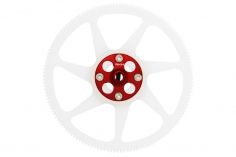 Rakonheli Hauptzahnrad Delrin 140 Zähne 4,6mm hoch mit Alu Nabe in rot für Blade 230 S und 230 S V2