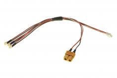3-Fach Ladekabel SERIELL mit NCPX Anschluss für 1S LIPO Akkus für ISDT Ladegeräte