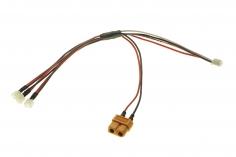 3-Fach Ladekabel SERIELL mit MCPX Anschluss für 1S LIPO Akkus für ISDT Ladegeräte