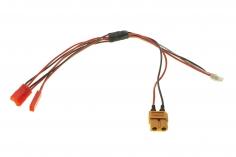3-Fach Ladekabel SERIELL mit BEC Anschluss für 1S LIPO Akkus für ISDT Ladegeräte