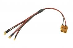 4-Fach Ladekabel PARALELL mit NCPX Anschluss für 1S LIPO Akkus für ISDT Ladegeräte