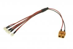 4-Fach Ladekabel PARALELL mit MCPX Anschluss für 1S LIPO Akkus für ISDT Ladegeräte