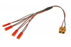 4-Fach Ladekabel PARALELL mit BEC Anschluss für 1S LIPO Akkus für ISDT Ladegeräte