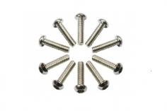 Linsenkopfschrauben Sechskant M2,5x10 10 Stück