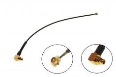 FPV Antennenadapter von MMCX auf UFL mit 90° Winkel ca. 10cm