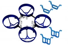 Rakonheli Rahmen aus Alu in blau und Carbon für 1S und 2S Brushless Whoop Kit