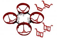 Rakonheli Rahmen aus Alu in rot und Carbon für 1S und 2S Brushless Whoop Kit