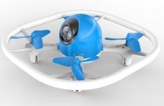 UDI RC Neon LED-Drohne in blau