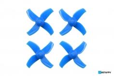 BetaFPV 4 Blatt Propeller Set 40mm für 1,5mm Welle in blau für Beta75X 2S