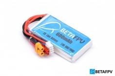 BetaFPV LiPo Akku 600mAh 2S 80C mit XT30 und JST/BEC