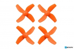 BetaFPV 4 Blatt Propeller 31mm für 0,8mm Welle in orange