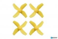 BetaFPV 4 Blatt Propeller 31mm für 0,8mm Welle in gelb