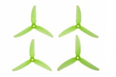 HQ Durable Prop Propeller POPO Quick Swap 5,5x3,5x3V1S aus Poly Carbonate in grün transparent je 2CW+2CCW