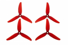HQ Durable Prop Propeller POPO Quick Swap 5,1x4,6x3V1S aus Poly Carbonate in rot transparent je 2CW+2CCW