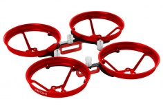 Rakonheli Tuning Rahmen aus carbon in rot für Blade Inductrix FPV Brushless