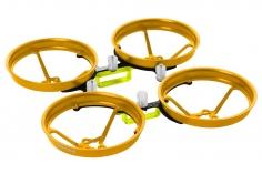 Rakonheli Tuning Rahmen aus carbon in gelb für Blade Inductrix FPV Brushless