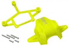 Rakonheli Haube und Kamerahalterung mit 20° Neigungswinkel in gelb für Blade Inductrix FPV Brushless