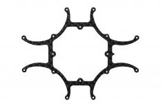 Rakonheli Hauptrahmen aus 1mm 3K Carbon CNC gefräst für Blade Inductrix FPV Brushless
