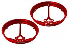 Rakonheli Propellerschützer aus Alu in rot 40mm für Rakonheli Tunning Rahmen für den Blade Inductrix FPV Brushless