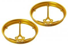 Rakonheli Propellerschützer aus Alu in gelb 40mm für Rakonheli Tunning Rahmen für den Blade Inductrix FPV Brushless