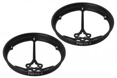 Rakonheli Propellerschützer aus Alu in schwarz 40mm für Rakonheli Tunning Rahmen für den Blade Inductrix FPV Brushless