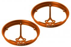 Rakonheli Propellerschützer aus Alu in orange 40mm für Rakonheli Tunning Rahmen für den Blade Inductrix FPV Brushless