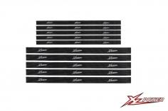 XLPower Ersatzteil Akku Klettbänder je 5 Stück 1x20cm und 1,5x25cm für XL Power 700
