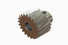 OXY Ersatzteil Motorritzel schrägverzahnt 21 Zähne für 5 mm Welle für OXY4 Max