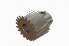 OXY Ersatzteil Motorritzel schrägverzahnt 19 Zähne für 5 mm Welle für OXY4 Max