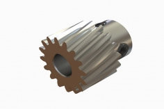 OXY Ersatzteil Motorritzel schrägverzahnt 16 Zähne für 5 mm Welle für OXY4 Max