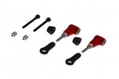 OXY Ersatzteil DFC Aluminium Arm Set in rot für OXY 3 und OXY 4