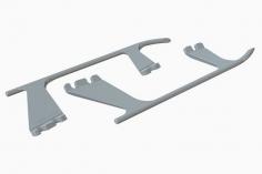 OXY Ersatzteil Landekufen aus Kunststoff in weiß für OXY 4 Max