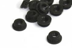 Einpressmutter in schwarz mit M2 Gewinde 10 Stück