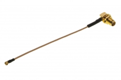 FPV Antennenadapter UFL auf 90° SMA (ohne Pin) mit Haltering ca. 10cm