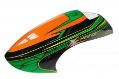Fusuno Green Snake Airbrush Fiberglass Haube für XLPower 700