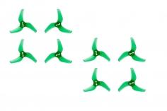 AZURE POWER RACE 3Blatt Propeller 2540 2,5x4x3 Zoll 4xCW + 4xCCW mit 1,5mm Aufnahme 3Punkt Montage in spezial grün