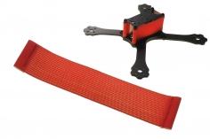FPV Racing Framestrap (Gummiband mit Laschen für M3 Standoff/Abstandshalter) 160x30mm in rot