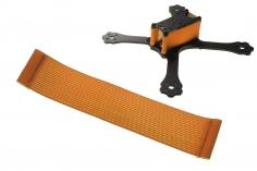 FPV Racing Framestrap (Gummiband mit Laschen für M3 Standoff/Abstandshalter) 160x30mm in orange