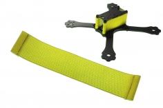 FPV Racing Framestrap (Gummiband mit Laschen für M3 Standoff/Abstandshalter) 160x30mm in gelb