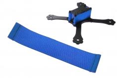 FPV Racing Framestrap (Gummiband mit Laschen für M3 Standoff/Abstandshalter) 160x30mm in dunkel blau