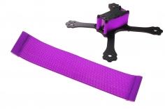 FPV Racing Framestrap (Gummiband mit Laschen für M3 Standoff/Abstandshalter) 160x30mm in violette